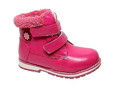 13be16339b1e Kinder Winterschuhe Mädchen Winterstiefel Boots Stiefel gefüttert Fuchsia 26