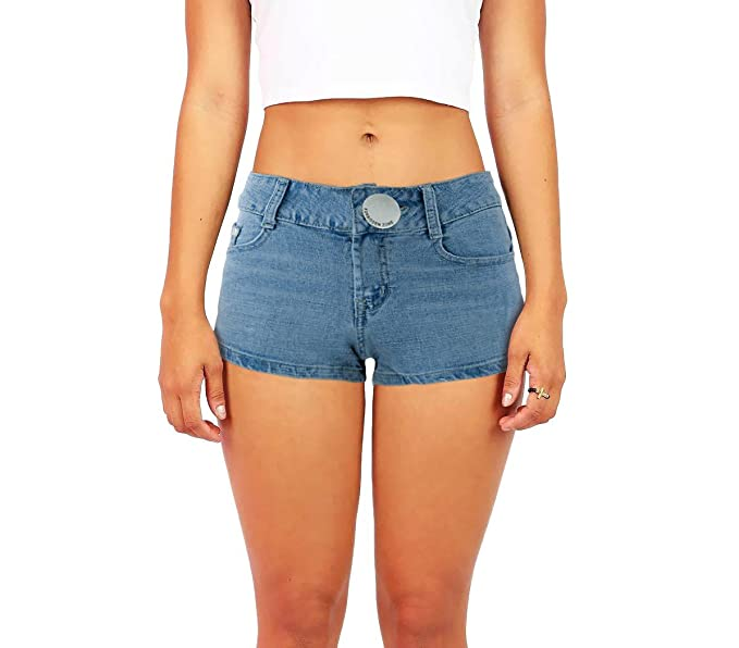 características sobresalientes precio asombroso color rápido Shorts tejanos cortos ajustados para mujer modelo FORBIDDEN ...
