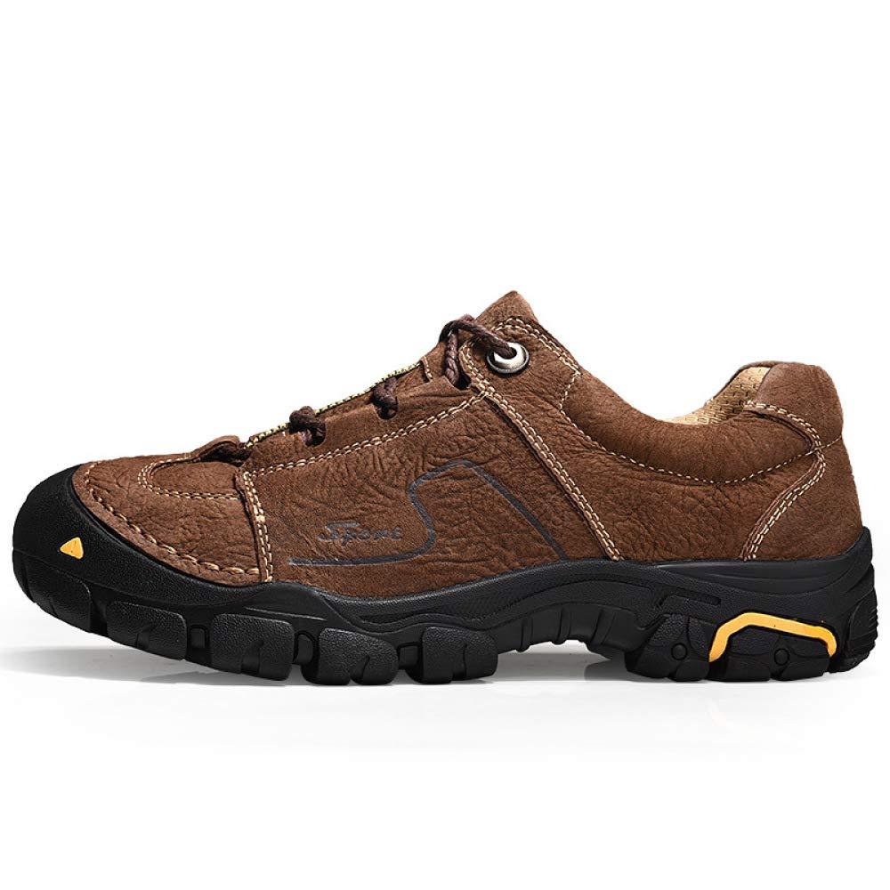 DZX Männer Frauen Stiefel Wandern Trekking Wanderschuhe Winter Wasserdicht Warm Rutschfeste Wandern Warme Stiefel, Outdoor-Arbeit,braun-41