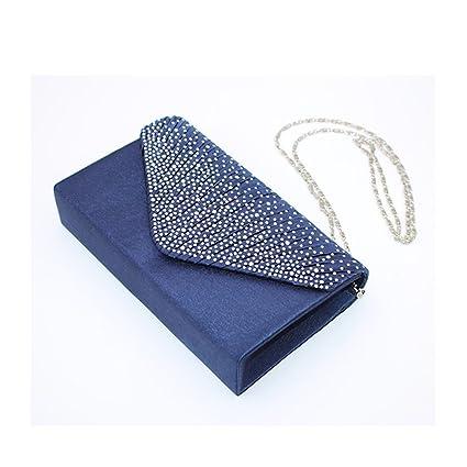 Bolso de mano de tipo sobre para veladas, fiestas y bodas - Color azul marino