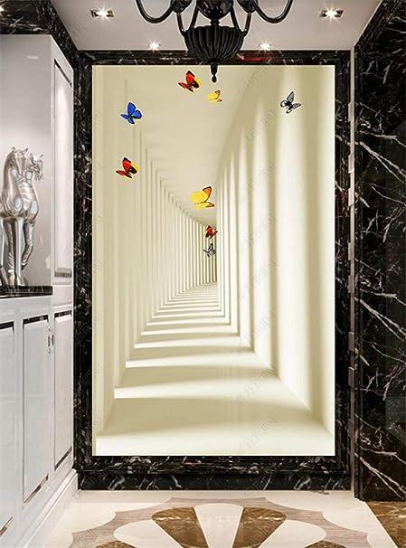Papier Peint Porte Papillon Couloir Modèle Effect 3D pour ...