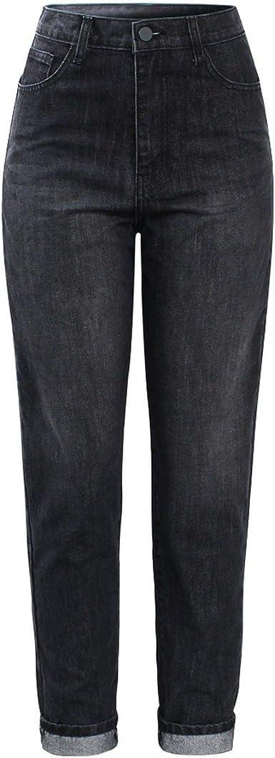 Amazon Com Pantalones Vaqueros Para Mujer De Cintura Con Vaqueros Negros Y Vaqueros Para Mujer Color Negro 29 Clothing