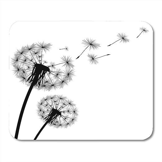 Alfombrilla para ratón con diseño de silueta de flores con diente ...