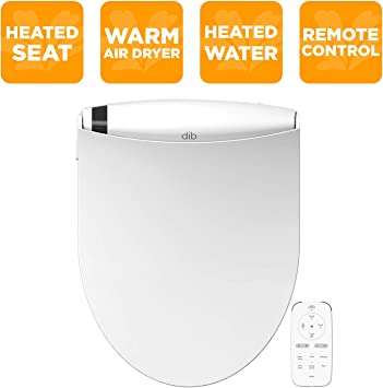 Biobidet Special Edition Dib Elongated White Electric Bidet Toilet Seat On Demand Warm Water Self Cleaning