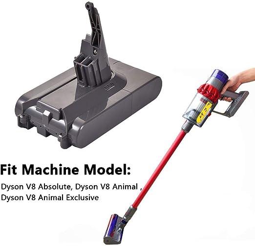 Batería de repuesto para aspiradora de mano Dyson V8 sin núcleo ...