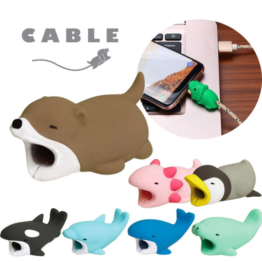 Fossrn Protector Cable Animales - Protector Cable Cargador ...