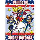 DC Super Hero Girls Invitations - Birthday Party Supplies - 8 per Pack - From Fun365