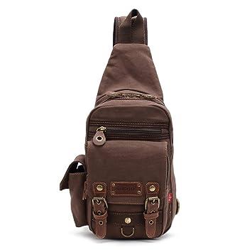 90a8df7cca9c9 Tuval dengesiz Pack Crossbody Omuz Çantası göğüs-çanta seyahat sırt çantası  yürüyüş sırt çantası erkekler