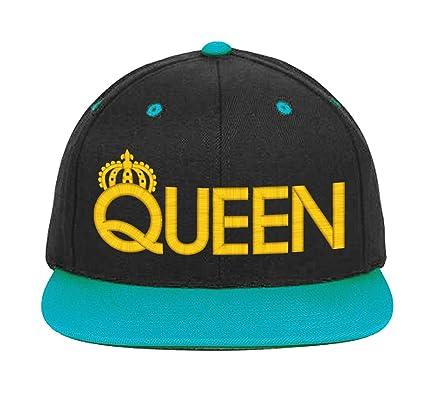 King & Queen, Pareja a juego, Snapback sombreros 9 colores: Amazon ...