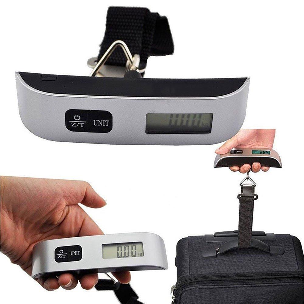 Báscula Digital de Precisión, Rango de Pesaje de 10g a 50kg, Balanza Portátil para Maletas, Electrónica Rey®: Amazon.es: Electrónica