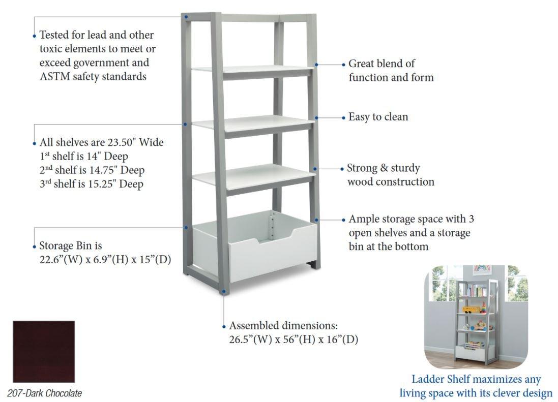 Amazon Delta Children Ladder Shelf White Grey Baby
