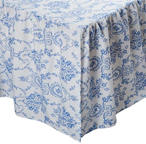 Patch Magic DRQBWLA Blue Wisteria Lattice Queen Bed Skirt Ruffled, Blue (Bedskirt Pattern)