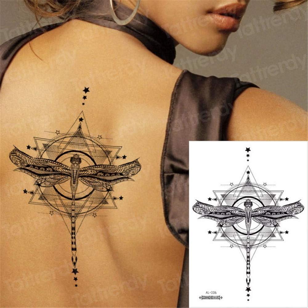 tzxdbh 5Pcs-Geometric Tattoo Sketch Flower Lotus Sticker Sternal ...