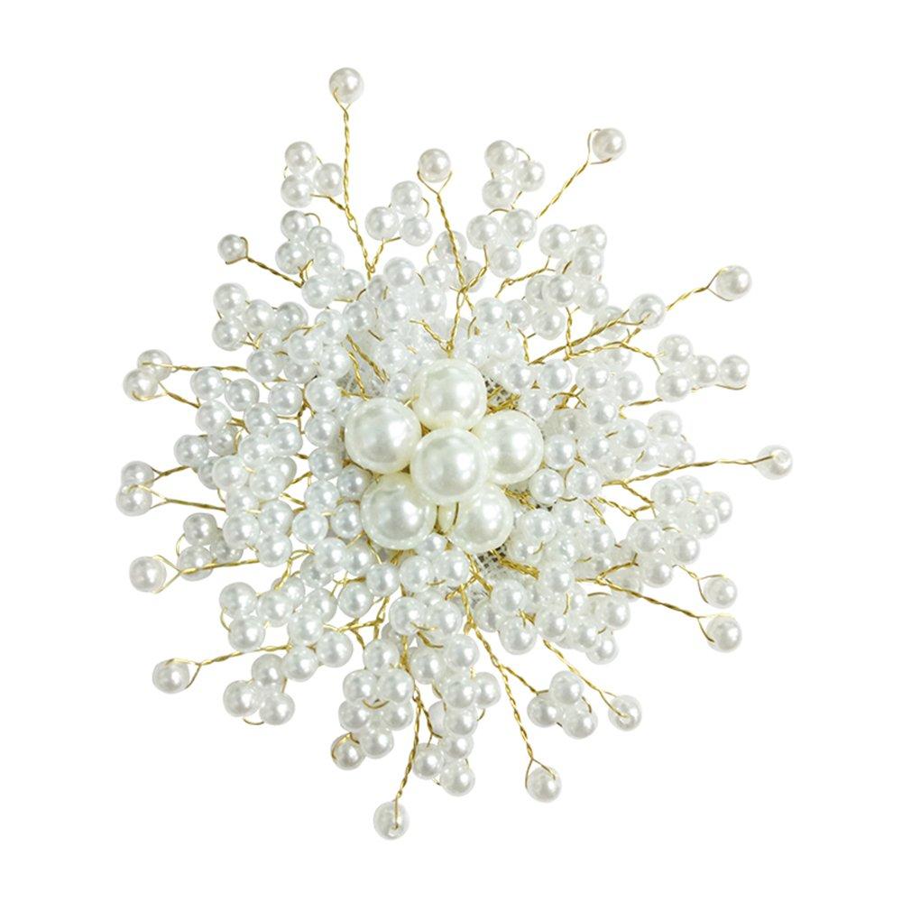 BEICHUANG Imitation Pearl Brooch Hair-Pin Clip Dual Purpose Jackets-Coats Ornament