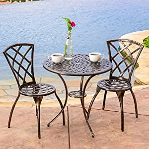 patio furniture clearance 3 piece table and chair outdoor backyard bistro set. Black Bedroom Furniture Sets. Home Design Ideas