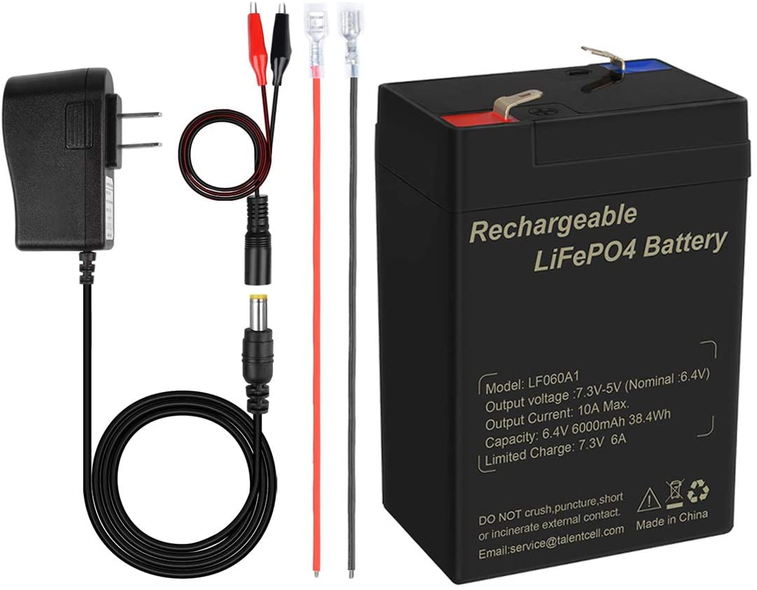 Lithium fer phosphate sondeur 3000 cycles Remplacement FiOS RoyPow Batterie LiFePO4 Deep Cycle Batterie SLA pour camping-car//camping-car 12 V scooter 6 Ah Rechargeable