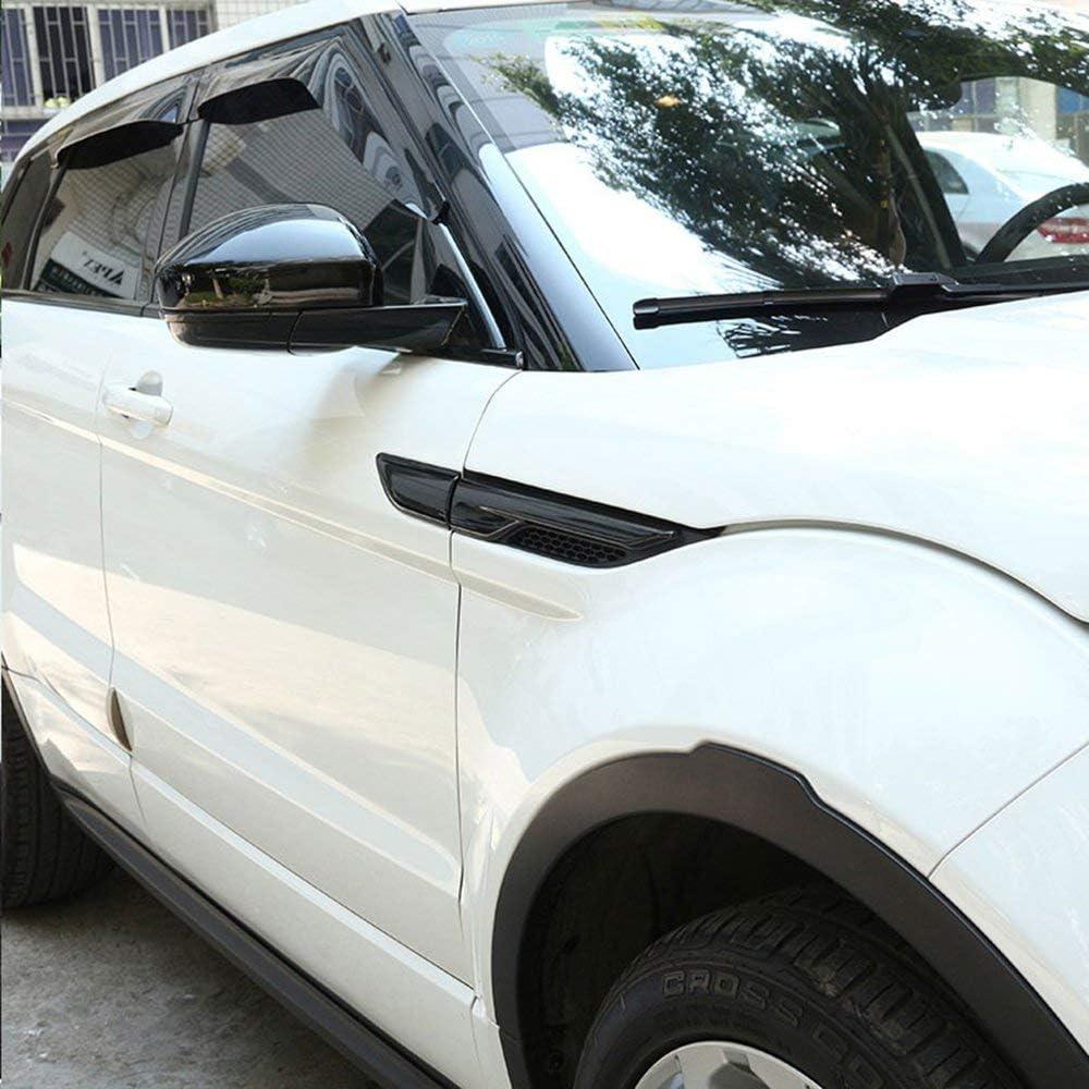ABS Side Door Fender Air Vent Outlet Trim For Land Rover Range Rover Evoque 2012-2017 Black