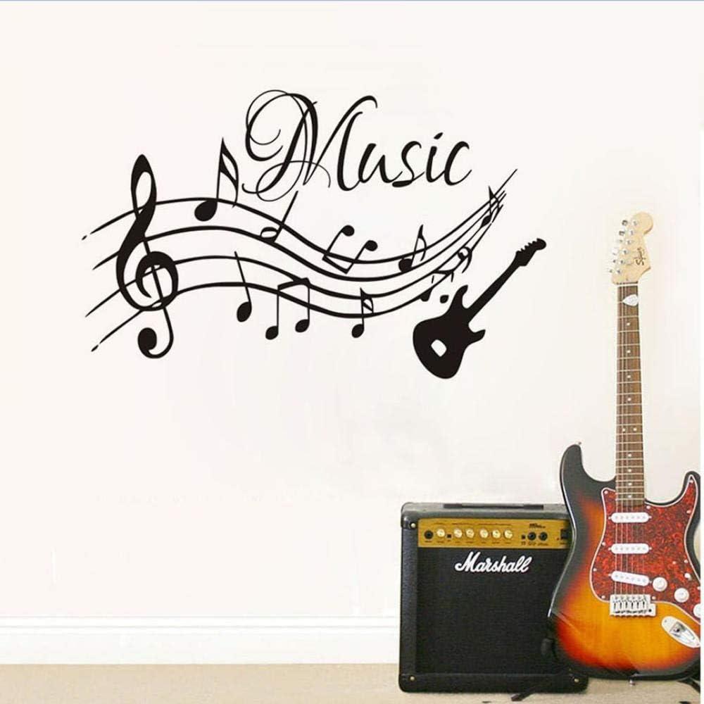 Notas Musicales Música Guitarra Diy Pegatinas De Pared Para Niños ...