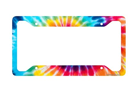 Amazon Airstrike Tie Dye License Plate Frame Tie Dye License