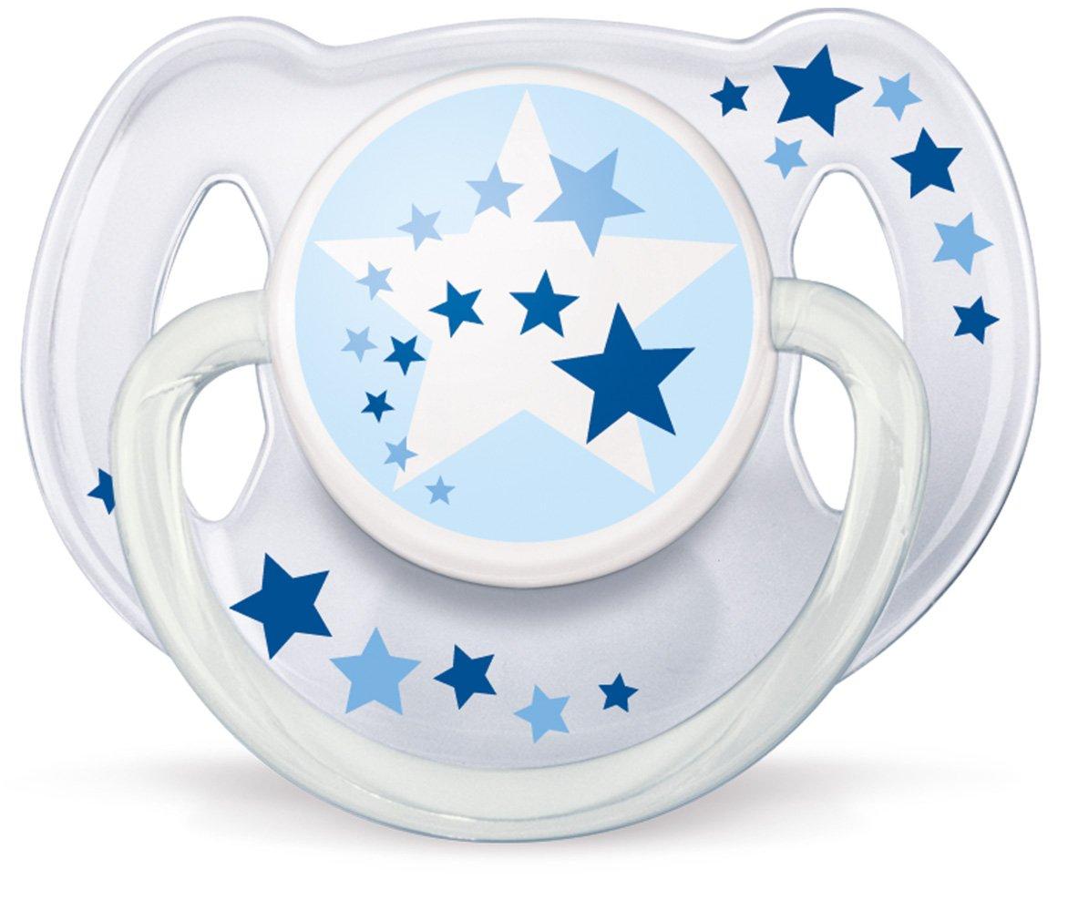 brilla en la oscuridad no es posible elegir el color 6-18 meses 2 unidades Chupetes nocturnos Sin BPA Philips AVENT SCF176//22