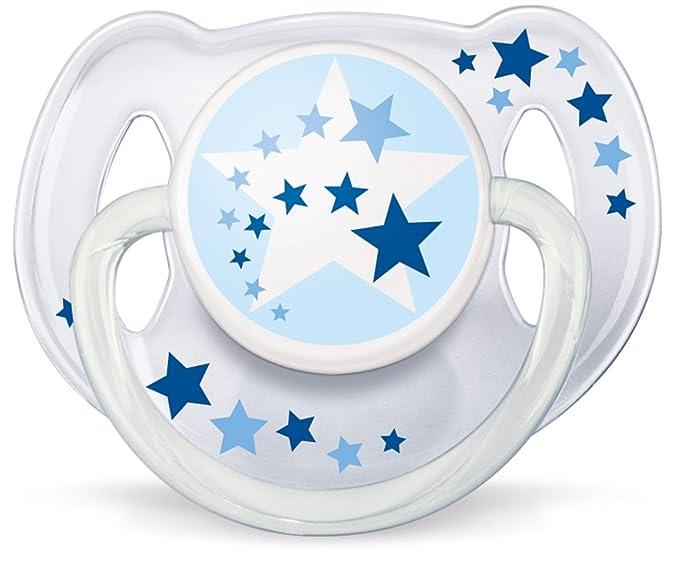 Philips AVENT SCF176/22 - Chupetes nocturnos Sin BPA, 2 unidades, 6-18 meses, brilla en la oscuridad, no es posible elegir el color