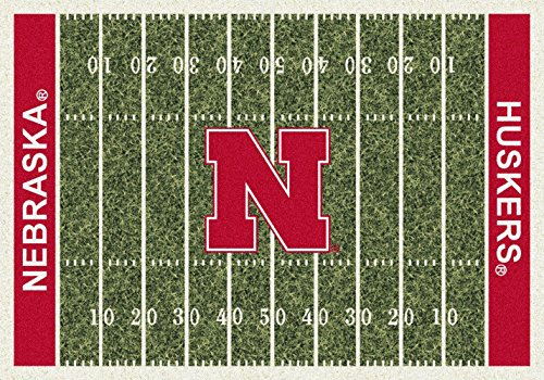 Nebraska Cornhuskers NCAA College Home Field Team Area Rug 5'4