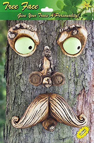 Grandpa with Glasses Tree Face Decor NEW