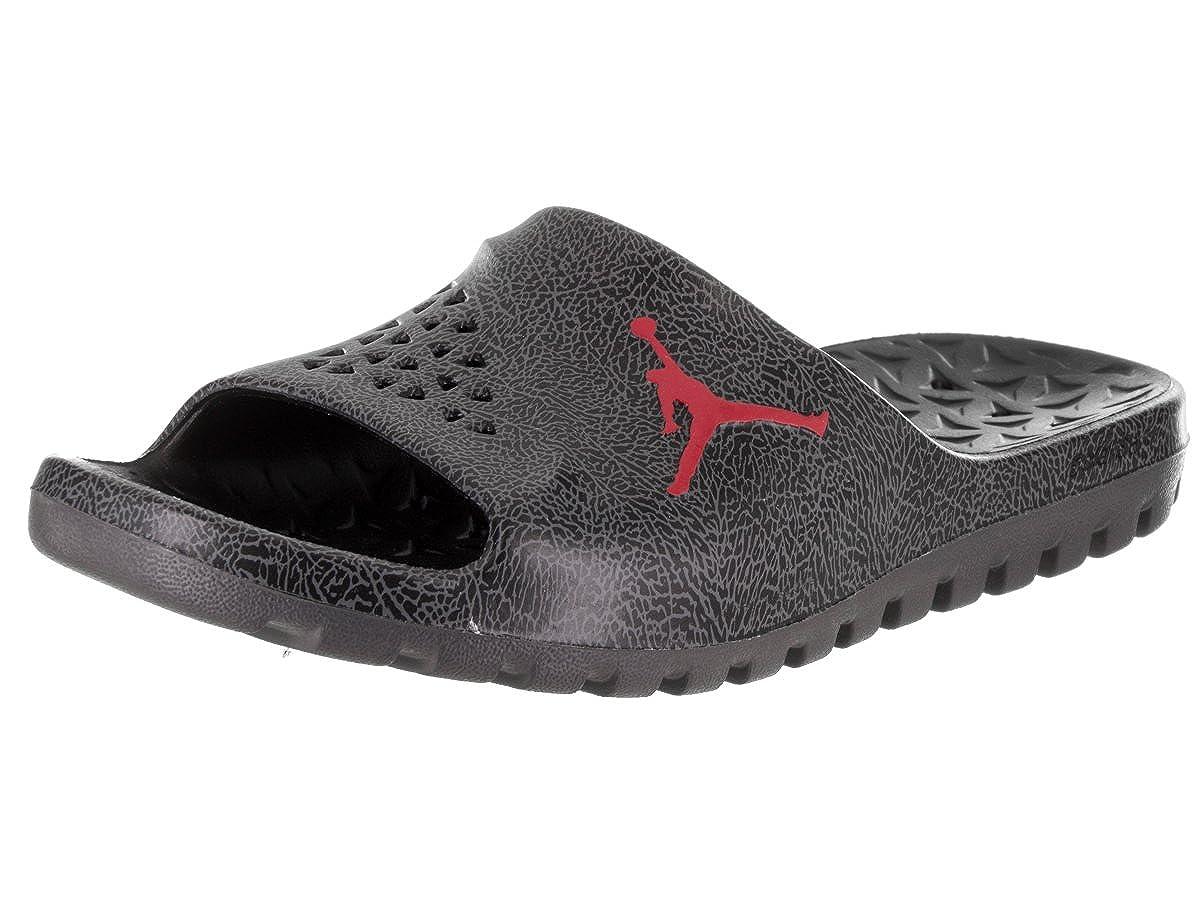 2bd3e716737 Amazon.com | Nike Jordan Men's Jordan Super.Fly Team Slide 2 Grpc Black/Gym  Red/Dark Grey Sandal 10 Men US | Shoes