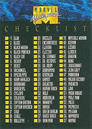 Amazon.com: 1992 Marvel obras maestras Series I Base ...