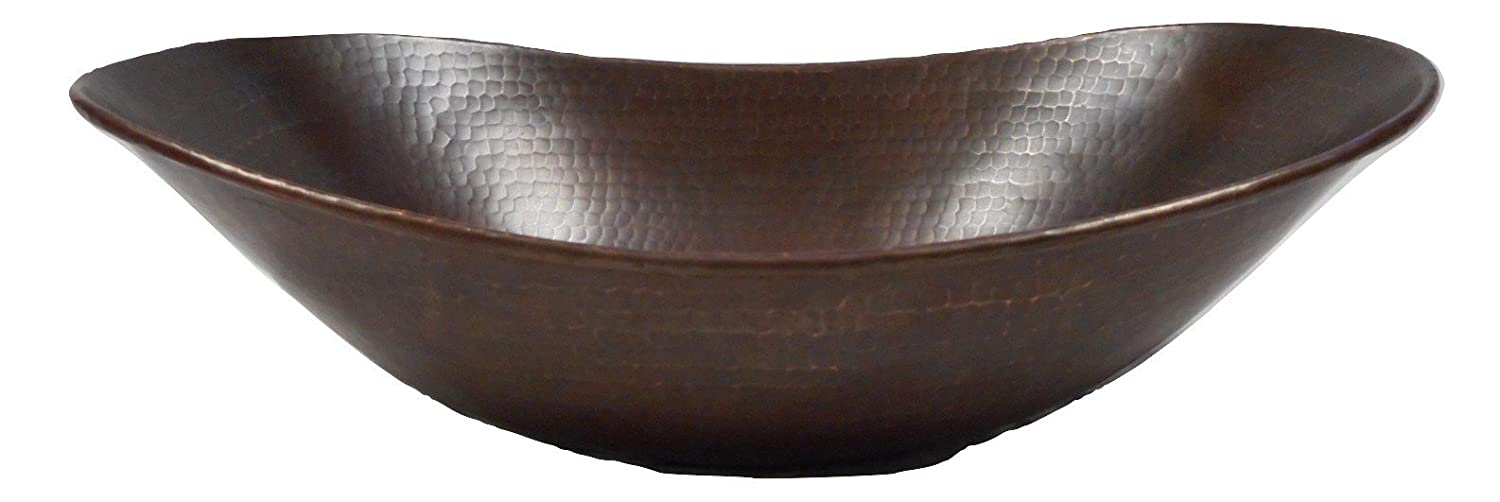 SimplyCopper 17 Oval Copper Sleigh Vessel Bathroom Sink