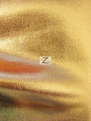 METALLIC FOIL SPANDEX FABRIC - Gold - STRETCH LYCRA 58