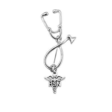 Amazon.com: Ensianth - Broche de estetoscopio para médicos ...