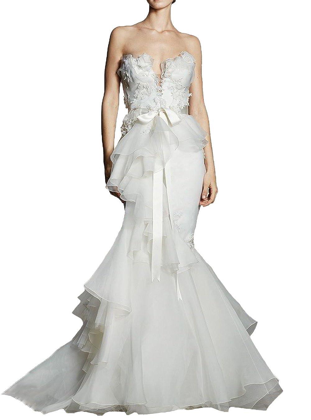 Ugly Strapless Elegant Mermaid Wedding Dress Sweetheart