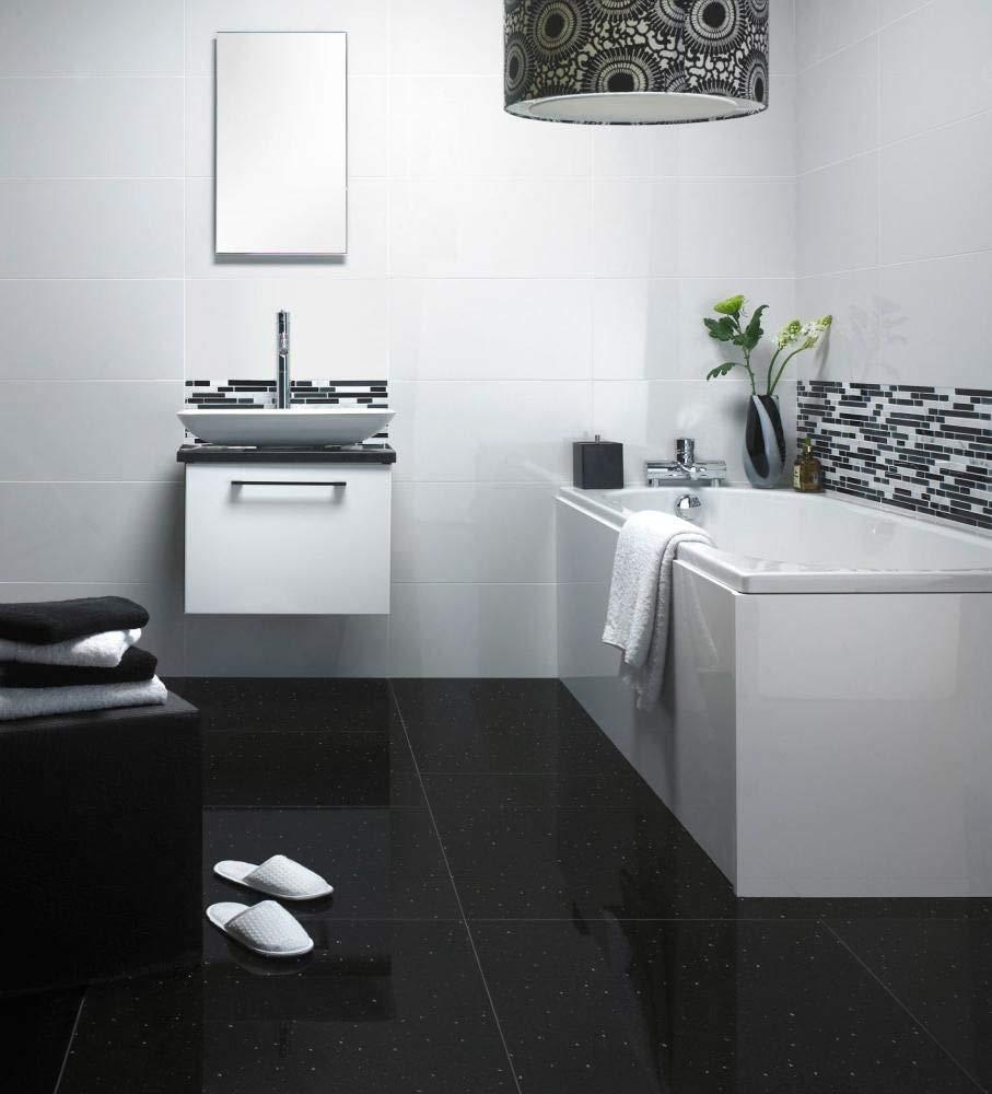 Natural Black Sparkle Quartz 60x60 Floor Tiles Per Sqm Amazon Co