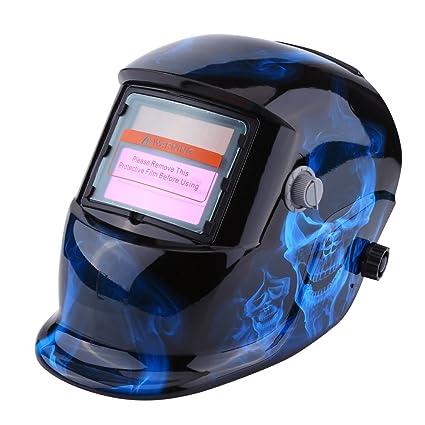 Casco de Soldadura Máscara de Oscurecimiento Automático Casco de Energía Solar Ajustable para Soldar