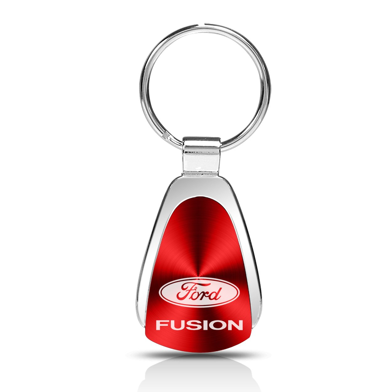 Ford Fusion Red Tear Drop Key Chain Au-Tomotive Gold INC
