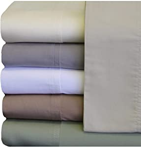 Royal Hotel ABRIPEDIC Tencel Sheets, Silky Soft and Naturally Pure Fabric, 100% Woven Tencel Lyocell Sheet Set, 4PC Set, King Size, Sea
