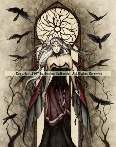 Dark Queen ~ Jessica Galbreth ~ Ceramic Sensations Tile ~ Fantasy Fairy Art