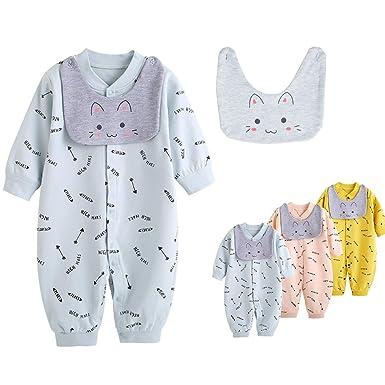 6713f6bee684 Amazon.com  Feidoog Infant Onesies Pajamas Baby Boys and Girls ...