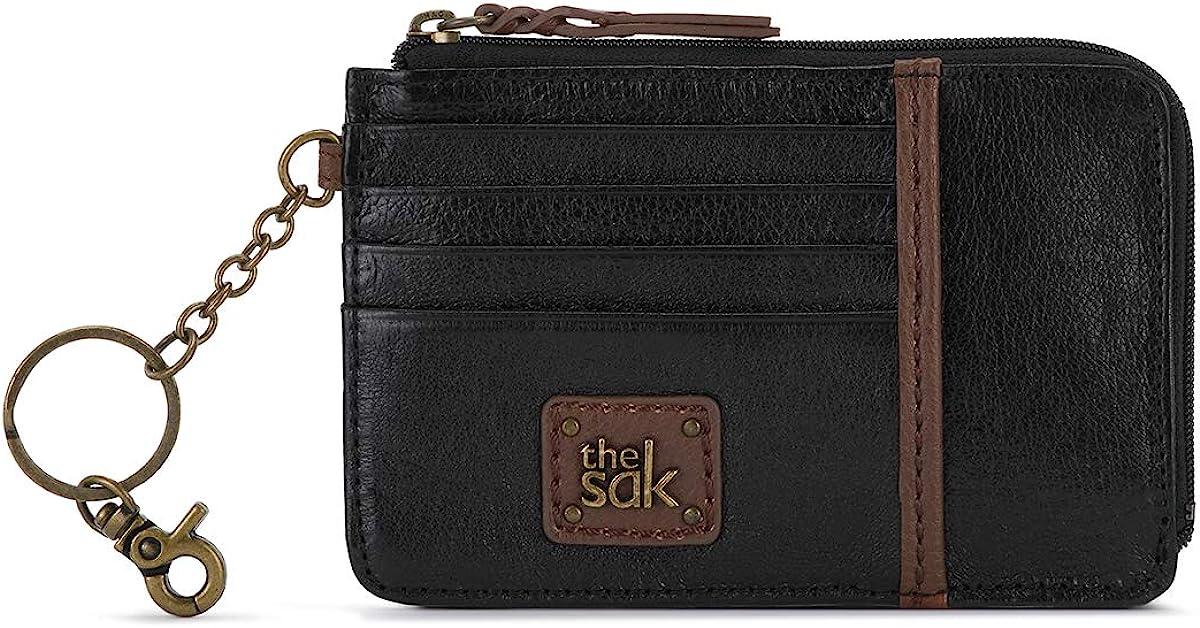 The SAK Iris Card Wallet, Black Onyx