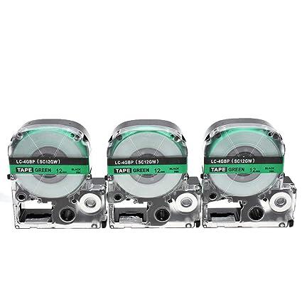 3x SZEHAM Casete de Cinta compatibles Epson LC-4GBP, para Epson ...