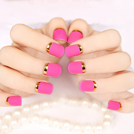 Enforten False Fake Nails French Manicure Pretty Nail Designs Hot