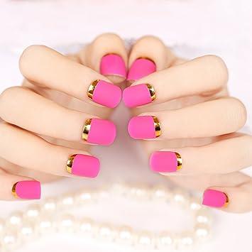Amazon Enforten False Fake Nails French Manicure Pretty Nail
