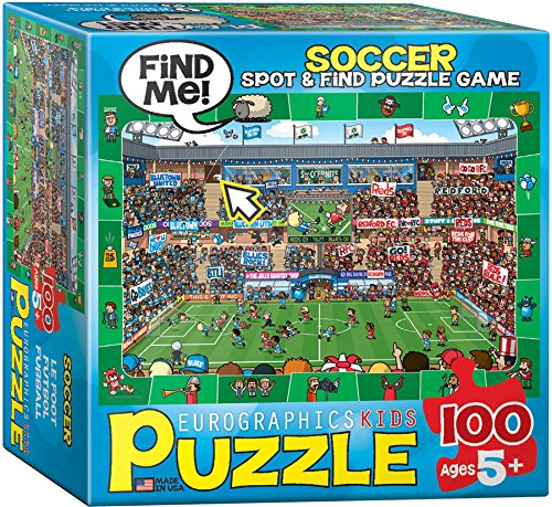 EuroGraphics Soccer Spot & Find Small Box Puzzle (100 Pieces)