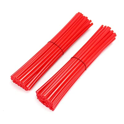 72-Piece Spokes Red Ring for Honda CFR250R CFR450R CFR450X CFR250X XR250 CR125 CR250 CRF230 off-Road Motorcycle: Automotive