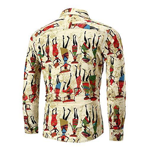 Polo, Camisetas, Blusa, BaZhai, Cómodo y transpirable de diseño D de Manga larga de hombre de polo con estampado delgado de Personality Tops diseño único de ...