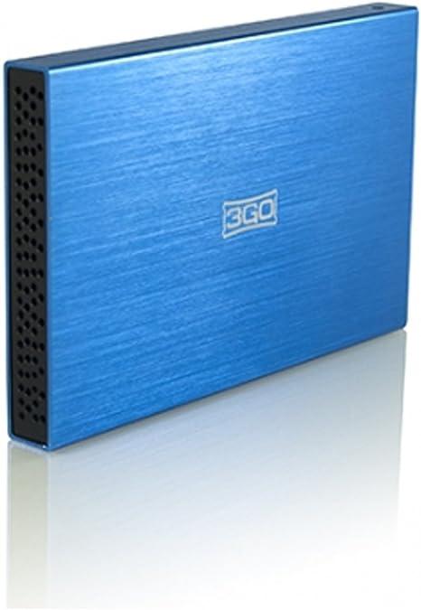 3GO HDD25BL13 - Carcasa para Disco Duro SATA 2.5