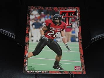 2003 Colorado At Texas Tech College Football Program Near Mint At