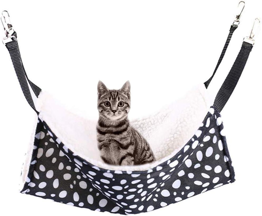 Rolybag Pet cage Hammock, pet Hammock, dot pet Hammock, pet cage Hammock, Soft Plush pet Bed, Suitable for Ferret Cotton Hammock, Guinea Pig, Hamster, Gerbil, cat cage, etc.