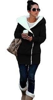 Minetom Mujer Otoño Invierno Sudadera Con Capucha Calentar Chaqueta Encapuchado Pullover Abrigos